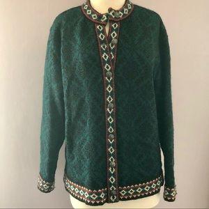 Beautiful L L Bean Merino Wool Cardigan